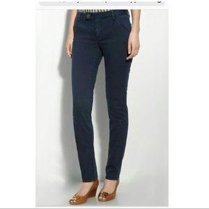 Tory Burch super skinny dark blue wash jeans